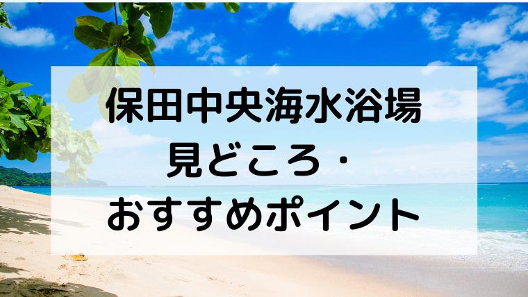 保田中央海水浴場の見どころ・おすすめポイント