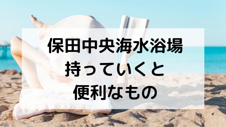 保田中央海水浴場へ持っていくと便利なもの